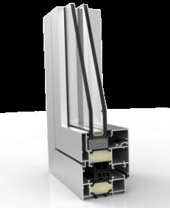Ventanas abisagradas con rotura de puente térmico - SERIE XP-70-TH-HI